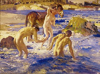 Anzacs bathing
