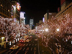 Sendai Pageant of Starlight in Aoba-dori avenue