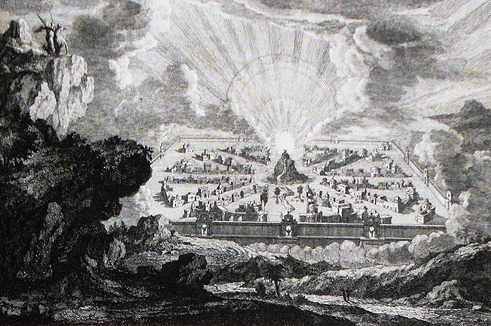 Apocalypse 38. A new heaven and new earth. Revelation cap 21. Mortier's Bible. Phillip Medhurst Collection