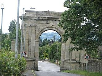 Oak Park, County Carlow - Triumphal arch on the Oak Park estate