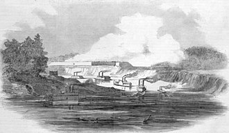 Battle of Arkansas Post (1863) - Naval bombardment of Arkansas Post.