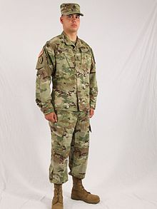 4e4ac607808 A U.S. soldier wearing the Army Combat Uniform (ACU) in the Operational  Camouflage Pattern (OCP).