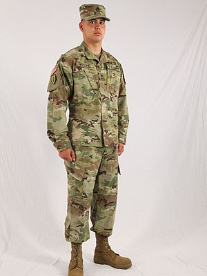 Army Combat Uniform - A U.S. soldier wearing the Army Combat Uniform (ACU) in the Operational Camouflage Pattern (OCP).