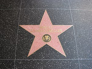 Hasta la vista, baby -  Arnold Schwarzenegger's star on the Hollywood Walk of Fame
