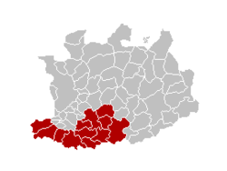 Location of the arrondissement in Antwerp