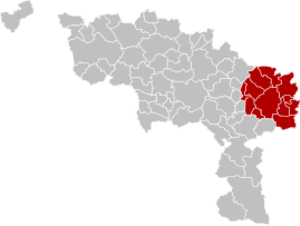 Arrondissement of Charleroi - Image: Arrondissement Charleroi Belgium Map