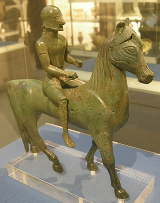 Armento - Armento Rider on display in the British Museum. Dating to 560-550 BC, it is one of the oldest bronze sculptures from Magna Graeca