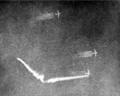 Asahi Shimbun photograph of sgt. masumi Yukis ramming attack 9 january 1945.png