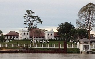 The Astana, Sarawak - Front view of the building from Kuching Waterfront