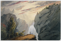 At the Waterfall ca1850 watercolor byDClaypooleJohnston MMA.png