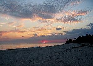 Port-Salut - Sunset on the beach in Port Salut