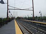Atlantic City Line platforms at Pennsauken Transit Center, May 2015.jpg