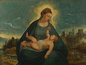 Bernardino da Asola - Madonna and Child