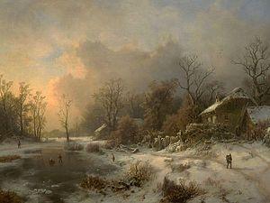 August Piepenhagen - Image: August Piepenhagen Winter Landscape