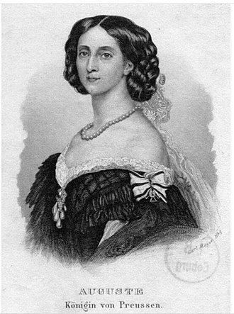 Augusta of Saxe-Weimar-Eisenach - Princess Augusta of Saxe-Weimar-Eisenach, circa 1833. Augusta was a granddaughter of Tsar Pavel I and Tsaritsa Maria Feodorovna