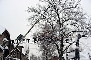 Oświęcim - Entrance to Auschwitz I concentration camp
