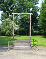 Auschwitz gallows on which Rudolph Hoess was hung.jpg