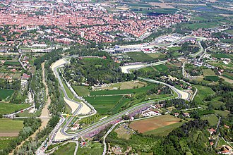 2003 San Marino Grand Prix - An aerial view of the Autodromo Enzo e Dino Ferrari.