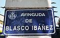 Avinguda de Blasco Ibáñez de València, placa.JPG