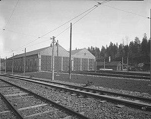 Avløs (station) - The old depot at Avløs