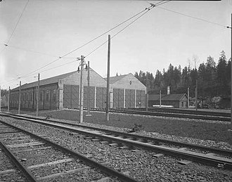 Avløs (station) - The old depot at Avløs