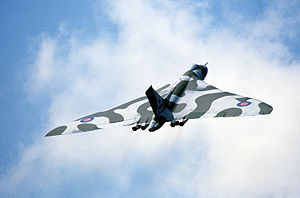 Royal Air Force - The Avro Vulcan was a strategic bomber used during the Cold War to carry conventional and nuclear bombs.
