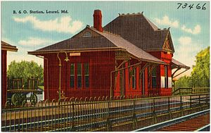 Ephraim Francis Baldwin - Image: B. and O. Station, Laurel, Md (73466)