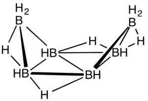 Hexaborane(12) - Image: B6H12