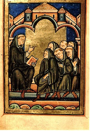 Henry Yates Thompson - Image: BL Yates Thomson 26Life Cuthbert Fol 35v Cuth Teaching