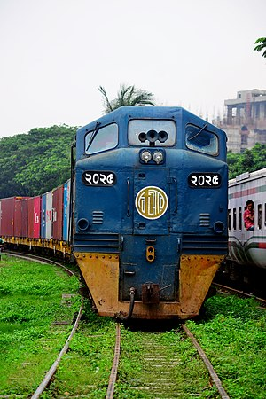 Bangladesh Railway Class 2000 - BR locomotive 2025 with Container train
