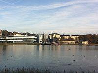 Campus Gräsvik har set fra Långö.
