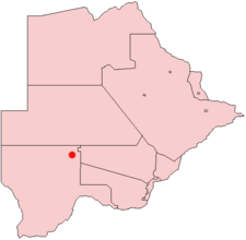 Location of Kang in Botswana