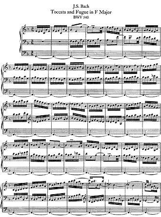 Toccata and Fugue in F major, BWV 540 - Image: BWV 540