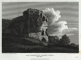Back entrance of Caldicot Castle, South Wales