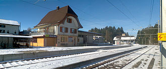 Affoltern im Emmental - Affoltern railway station.  Many residents commute to jobs other communities