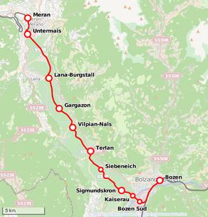 Bahnstrecke Bozenmeran Wikipedia