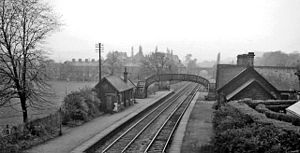 Baildon railway station - View towards Shipley and Bradford in 1961