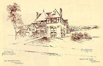 Crescent Boat Club - Balderston's sketch of Crescent after renovations
