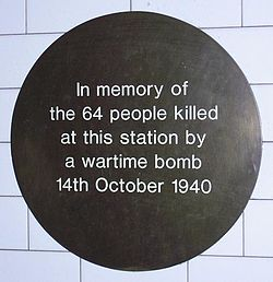 Balham tube plaque 080120