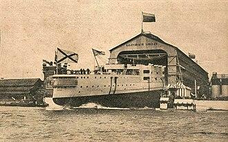 Baltic Shipyard - May 1900: Launch of the battleship Pobeda (Victory) on the Baltic Shipyard