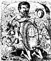 Banchetul noueĭ direcţiĭ la borta rece patronat de Muerilă, Ghimpele, 16 nov 1875.JPG