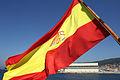 Bandera de España en la popa del Buque Escuela Juan Sebastián de Elcano (14530536819).jpg