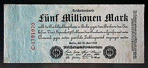 Banknote - 5.000.000 Mark - Deutsches Reich - ...