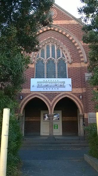 Brunswick Baptist Church - Image: Baptist Church in Brunswick
