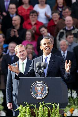Barack Obama Speaking at College Green.jpg