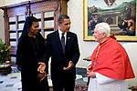Barack et Michelle Obama avec Benoit XVI.jpg