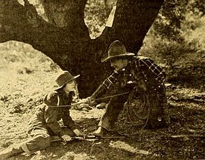 Agnes Vernon - Still from Bare-Fisted Gallagher (1919) with Agnes Vernon and William Desmond