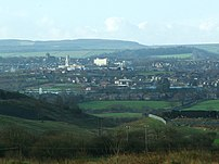 A view of Barnsley, South Yorkshire, England t...