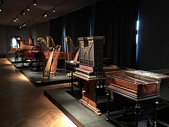 Music Museum (Basel) - An exhibition hall with several important antique keyboard instruments