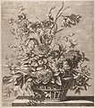 Basket of Flowers from the Book of Several Baskets of Flowers, Designed and Engraved by Baptiste Monnoyer (Livre de Plusieurs Corbeilles de Fleurs dessiné et gravé par Baptiste Monnoyer) MET DP210752.jpg